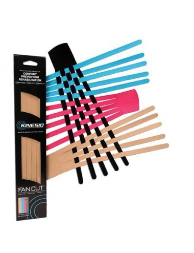 Kinesio Fan Cuts 12 pack assorted colors