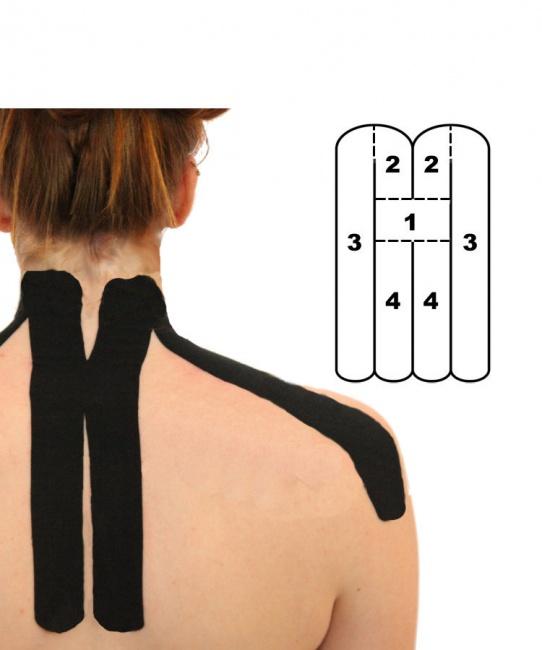 Kindmax Kinesiology Tape Neck Support - Black